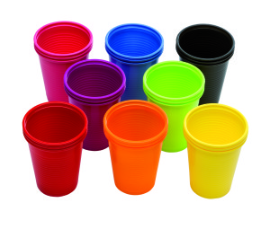 Bicchieri Plastica Colorati 3000pz