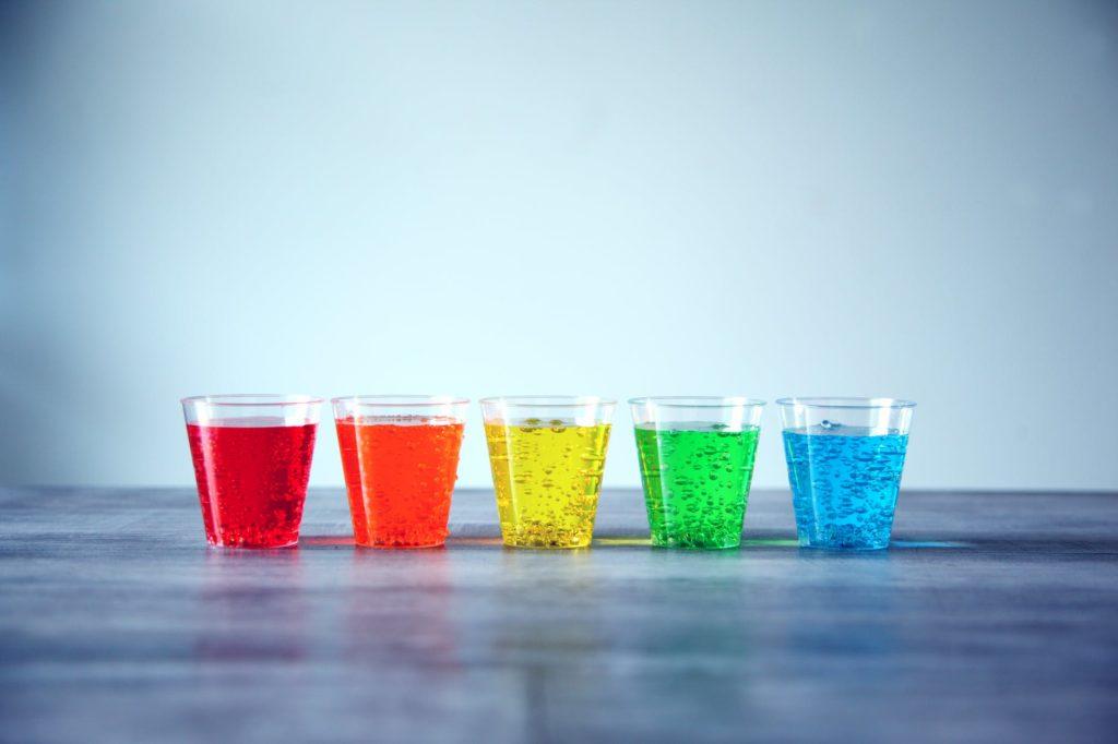 Bicchieri Plastica Colorati 100pz