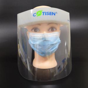 visiera protettiva in plexiglass con spugna