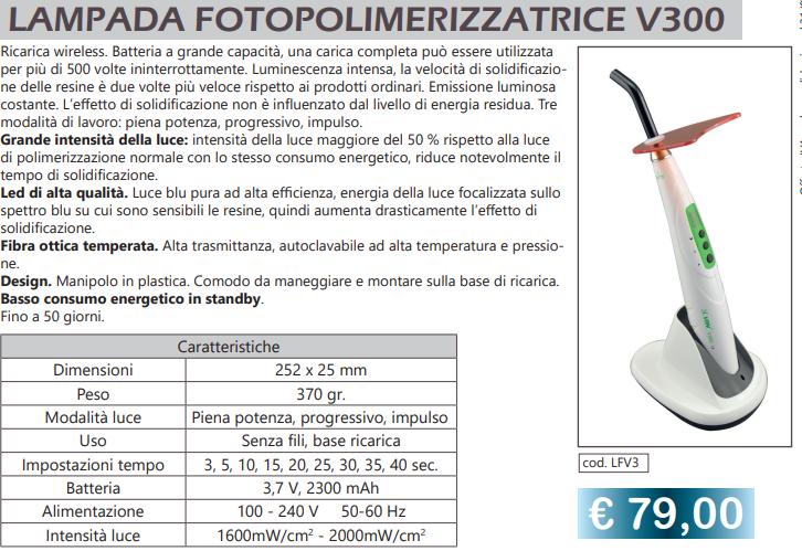 Lampada Fotopolimerizzazione V300